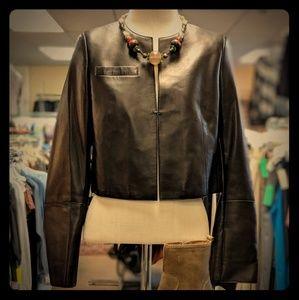 Authentic Akris Hasso leather jacket size 8